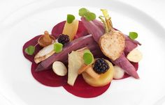 Sous vide grouse and beetroot shine in this recipe from Adam Stokes. It is an advanced grouse recipe, but the result, with its earthy veg and rich sauce, is sublime. Grouse Recipes, Vinegar Chicken, Beetroot Recipes, Great British Chefs, Meat Recipes, Game Recipes, Dessert, Venison, Sous Vide