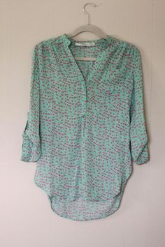 Jackie: I own this!!! Bought from another SF'er online. PIXLEY #5122-934 Colibri Bird Print Tab-Sleeve Blouse