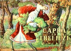 Dem Demetrescu - Capra cu trei iezi My Childhood Memories, Printed Materials, Book Illustration, Romania, Paper Dolls, Card Games, Illustrators, Fairy Tales, Old Things