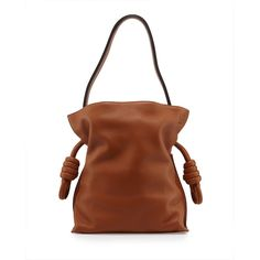 Loewe Flamenco Small Knot Bucket Bag (7.125 BRL) ❤ liked on Polyvore featuring bags, handbags, shoulder bags, tan, brown bucket bag, tan shoulder bag, tan handbags, brown shoulder bag and brown handbags