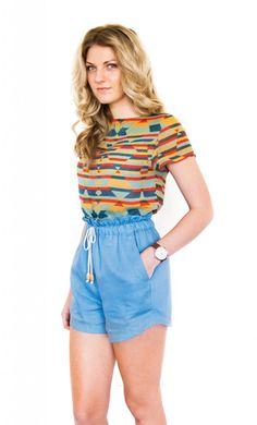 Paper-bag waist shorts pattern | Pattern Runway | Peppermint Magazine