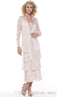 Wholesale Mother Pant Suits - Buy Stunning Mother of the Bride Dress Sheath/Column Spaghetti Strap Lace Tea Length Prom Dresses, $99.65 | DHgate
