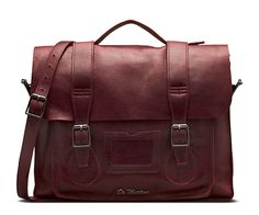 In a soft tumbled Naturesse leather to give it an amazing handle, this traditional 15 satchel boasts an over-sized closure flap, classic buckle fasteners for ease of use and an adjustable and removable shoulder strap for versatility. Constructed with a puritan stitch to give it the famous Dr. Martens utility and durability the dimensions of this bag are 15 wide x 11 tall and 4 deep, shoulder strap 50.