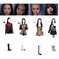 Kpop Fashion Outfits, Stage Outfits, Dance Outfits, Pink And Black Wallpaper, Outfit Combinations, Ulzzang Girl, Polyvore Outfits, Korean Girl, Cute Girls