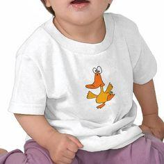 Dancing Duck Cartoon Tshirt  #babies #shirts #art #babygifts #zazzle #petspower #ducks #dancing #funny