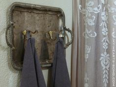 My Hearts Song:  Repurposing Old Silver Trays (Diy Bathroom Tray)