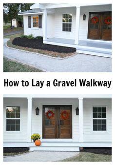 How to Lay a Gravel Walkway beneathmyheart.net