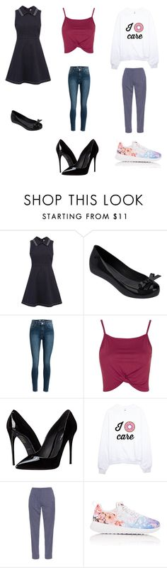 """""""Types of People at School"""" by nidha-h-mansoor on Polyvore featuring beauty, RED Valentino, Melissa, Topshop, Dolce&Gabbana, Diane Von Furstenberg and NIKE"""