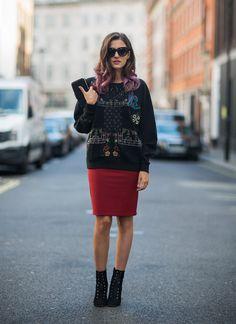 zara special embroidered sweatshirt