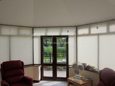 Our pure™ Pleated Blinds with Buttermilk fabric installed in the second conservatory within St Michael's Hospice. They contacted us to install blinds into this conservatory after they were so pleated with our work in their first conservatory.