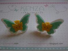 Gomillas - Coletero mariposas ref: 023 - hecho a mano por KENZA-COMPLEMENTOS en DaWanda