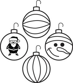 christmas ornaments coloring pages | Printable Christmas Coloring ...