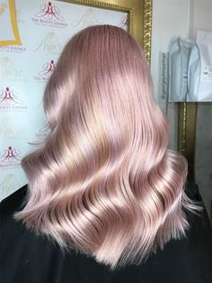 This client, used to a natural look with classic blonde highlights or balayage, decided to try something fun. Get the details for her new pastel pink finish by George Johnson. Natural Highlights, Blonde Highlights, Pastel Hair, Pastel Pink, Creative Colour, Pink Grapefruit, Perfect Pink, Pink Color, Hair Beauty