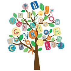 Found it at Wayfair - ABC Tree Giant Wall Decal