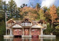 Adirondack boathouse - Cabin Life Magazine