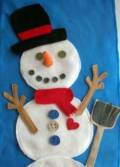 Felt Frosty the Snowman