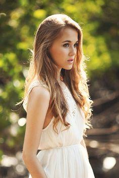 Blond hair brown eyes