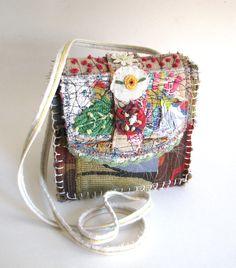 Upcycled Bag Garden Style Little Pocket Cross the Body Strap. $45.00, via Etsy.