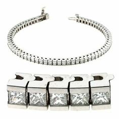 14K White Gold 4.5cttw Princess Diamond Bracelet Jewelry Pot. $8582.99. Your item will be shipped the same or next weekday!. 100% Satisfaction Guarantee. Questions? Call 866-923-4446. All Genuine Diamonds, Gemstones, Materials, and Precious Metals. 30 Day Money Back Guarantee. Fabulous Promotions and Discounts!