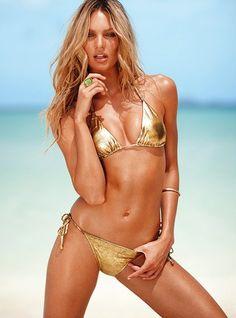 despite my general dislike of gold-colored things, i'm digging the gold bikini.