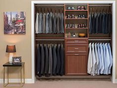 Check our reach in closet designs and see for your self the space your missing. We specialize in small closet designs for small spaces. Custom Closet Design, Custom Closets, Wardrobe Design, Closet Designs, Garage Design, Small Room Bedroom, Closet Bedroom, Small Rooms, Loft Bedrooms