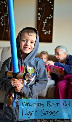 how to make a light saber for kids {inlieuofpreschool}
