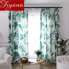 What lamp for my living room? Living Room Decor Curtains, Living Room Windows, Living Room Lighting, Living Room Bedroom, Bedroom Decor, Bedroom Interiors, Leaf Curtains, Rustic Curtains, Country Curtains