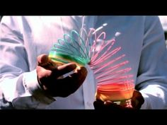 The Slinky Drop. The force of gravity downward = the force of tension upward. Show during gravity/forces. This is why I love science--way cool!