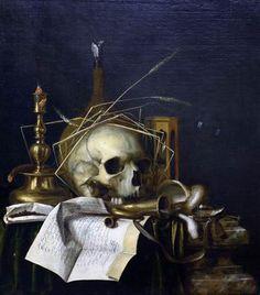 Cornelis Norbertus Gysbrechts (Bélgica, Vanitas, Jerusalem, The Israel Museum. Vanitas Paintings, Vanitas Vanitatum, Don't Fear The Reaper, Dance Of Death, Art Terms, Momento Mori, Danse Macabre, Art Poses, Skull And Bones