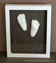 (I) (L)ove (D)oing (A)ll Things Crafty!: Baby Feet Shadow Box Keepsake - DIY Tutorial