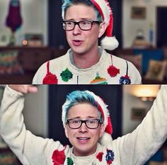 """Go watch my newest vid """"My Sloppy Holiday Message""""! (Look in comments for link) Danisnotonfire, Amazingphil, Youtube Vines, Marcus Butler, Dodie Clark, He Makes Me Happy, Cimorelli, Tyler Oakley, Having A Bad Day"""