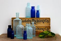 Vintage Medical Bottles by vintagewall on Etsy, $65.00