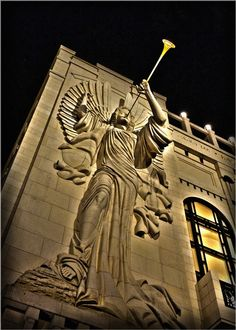 """""""Concrete Angel,"""" Bass Performance Hall, 4th and Calhoun Streets, Fort Worth, Texas 76102."""
