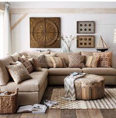 Todo Beis Bella Decoracion · Living Room IdeasCountry ...
