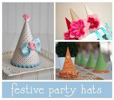 Divertidos diseños de gorros para cumpleaños y decorar