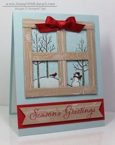 White Christmas Window Scene by amyk3868 - Cards and Paper Crafts at Splitcoaststampers