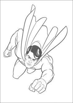 Tegninger til Farvelægning Superman 18