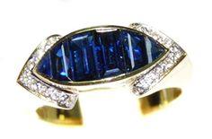 18K Yellow Gold Genuine For Men Blue Sapphire Ring Diamond [RQ0029] BKGjewelry http://www.amazon.com/dp/B00CDO1FVY/ref=cm_sw_r_pi_dp_4APowb1CWGR78