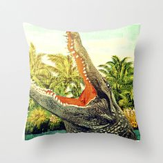 Alligator Pillow |  Beach Lover Gifts | Gator in the house :)