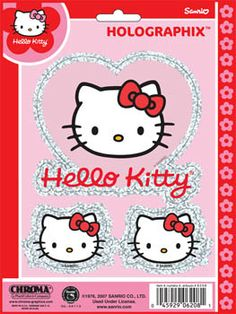 Hello Kitty Holographix Decal Set With Free Shipping