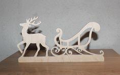 traineau du père Noël en bois                                                                                                                                                                                 Plus