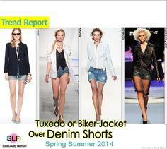 SLF (Tuxedo or Bier Jacket Over Denim Shorts Fashion...)