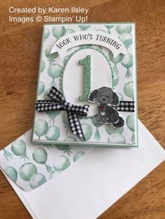 Twenty Four Stampin' Up! Projects by Amy's Inkin' Krew Featured Stampers – Stamp With Amy K 1st Birthday Cards, Birthday Numbers, 1st Boy Birthday, Happy Birthday, Boy Cards, Kids Cards, Pretty Cards, Cute Cards, Happy 1st Birthdays