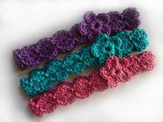 Baby Crochet headband with Flower by LoveBabyNZ on Etsy
