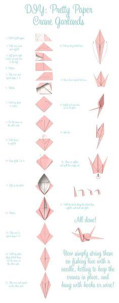 Comment réaliser une cocotte en papier afin de concevoir une guirlande