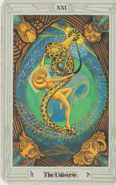 'The Universe' from the Thoth Tarot deck, painted by Lady Frieda Harris according to instructions from Aleister Crowley.