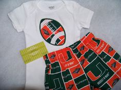 miami short set university team spirit football two piece shirt and shorts set hurricanes