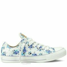 Beautiful floral converse off white all star converse with light purple/mint floral print They are used but I don't really wear them Love them but they're a size too small for me Please ask if you wish to see extra pictures I will clean them the best I can before I ship?? Feel free to make an offer! Converse Shoes Sneakers