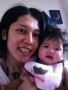 Miyavi and daughter Jewelie.
