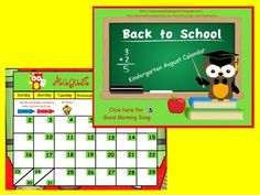 SO MUCH MORE THAN A CALENDAR! This August Back to School kindergarten calendar for ActivBoard. Includes calendar, weather, days of the week, months of the year, # of days in school, syllables, alphabet, alphabetical order, counting 1-10, color words, shapes, rhyming words, author/illustrator, parts of a book, and many more Common Core aligned actvitites!*First Grade Calendars are also available in my store with many Common Core activities!